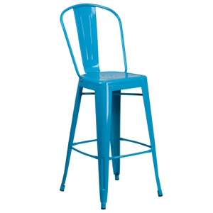 Tolix Pastel High Back Barstool