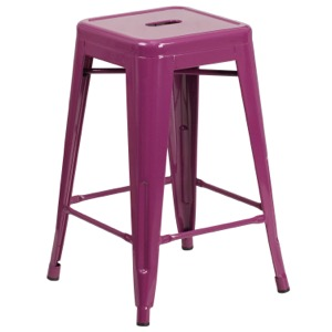 Tolix Pastel  Backless Counter Stool