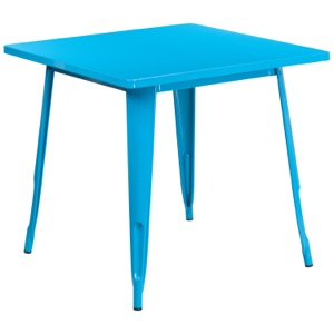 Square Tolix Pastel Cafe Table-31.5""