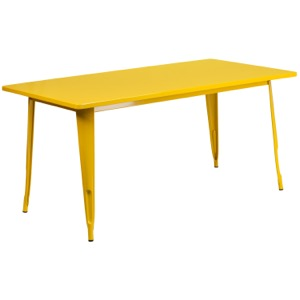 "Rectangular Tolix Cafe Table-31.5"" x 63''"