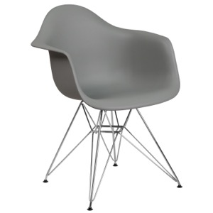 Bailey Arm Chair with Chrome Base