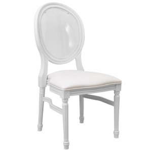 Alberto Side Chair with Transparent Back