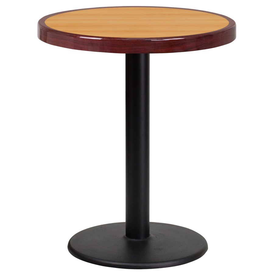 Round 2 Tone High Gloss Natural Mahogany Resin Table Top