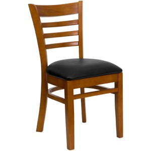 Diana Ladder Back Chair with Upholstered Seat