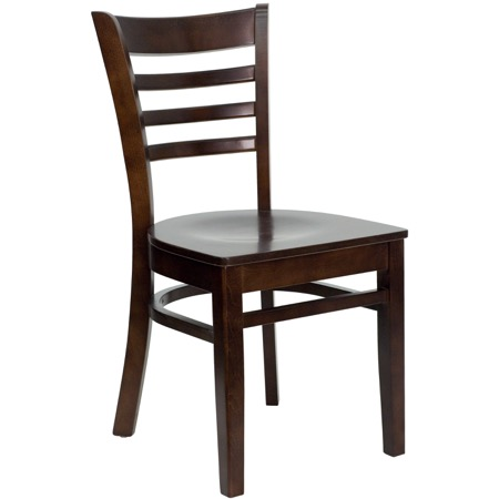 Diana Ladder Back Chair with Wood Seat