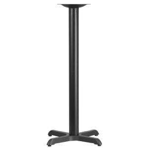 Restaurant Table X-Base with 3'' Diameter Column-Bar Height