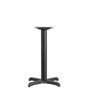 Restaurant Table X-Base with 3'' Diameter Column-Table Height