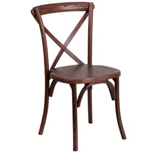 Bistro Style Wood Cross Back Chair