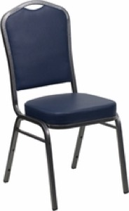 Crown Back Stacking Banquet Chair with 2.5'' Thick Seat