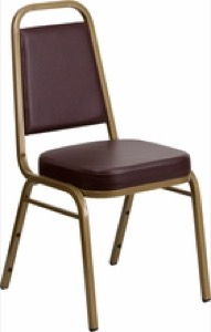 Trapezoidal Back Stacking Banquet Chair with 2.5'' Thick Seat