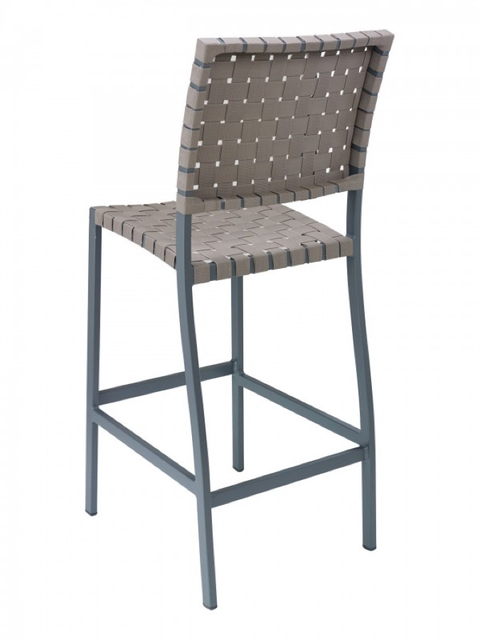 Zander Aluminum Outdoor Bar Stool Weave Chairs Direct