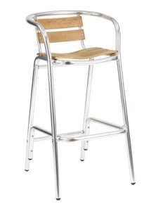 Miami Aluminum Bar Stool with Arms