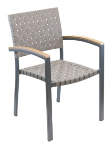 Zander Aluminum Arm Chair