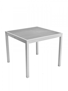 Zane Square Aluminum and Synthetic Teak Inlay Table