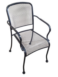 Wrought Iron Mesh Arm  Chair