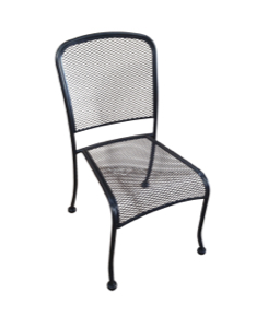 Wrought Iron Mesh Side Chair