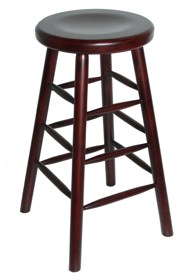 Backless Wood Restaurant Barstool Wood Seating Chairs