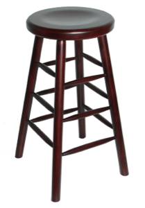 Backless Wood Restaurant Barstool