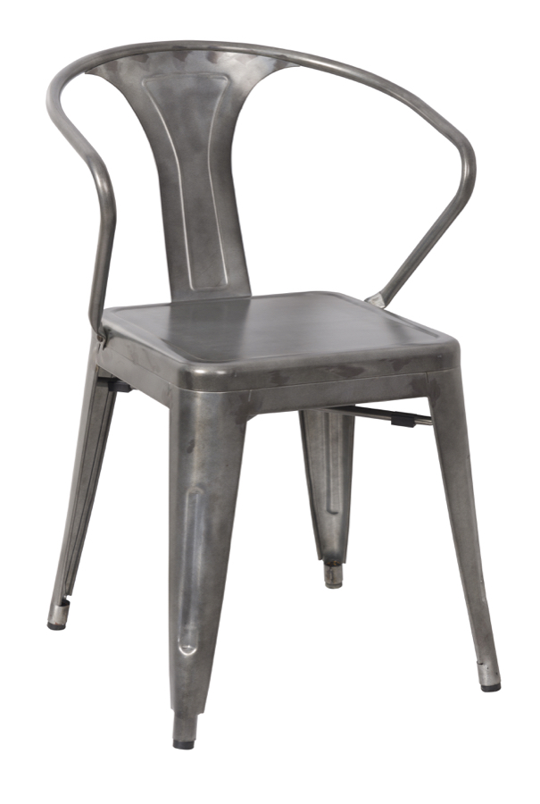 galvanized steel arm chair hudson collection chairs direct seating. Black Bedroom Furniture Sets. Home Design Ideas