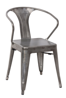 Galvanized Steel Arm Chair