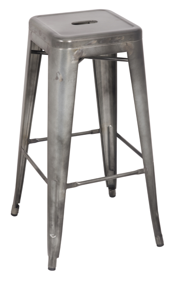 Tabouret tolix replica galvanized steel backless bar stool - Imitation tolix tabouret ...