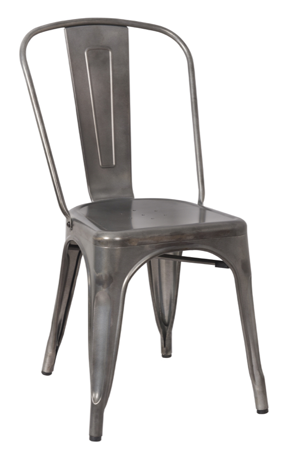 Tabouret tolix replica galvanized steel restaurant chair - Imitation tolix tabouret ...
