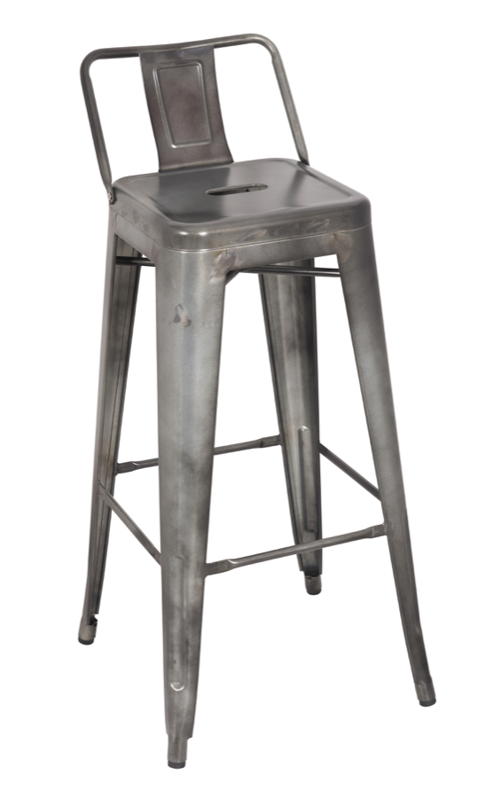 tabouret tolix replica galvanized steel bar stool. Black Bedroom Furniture Sets. Home Design Ideas