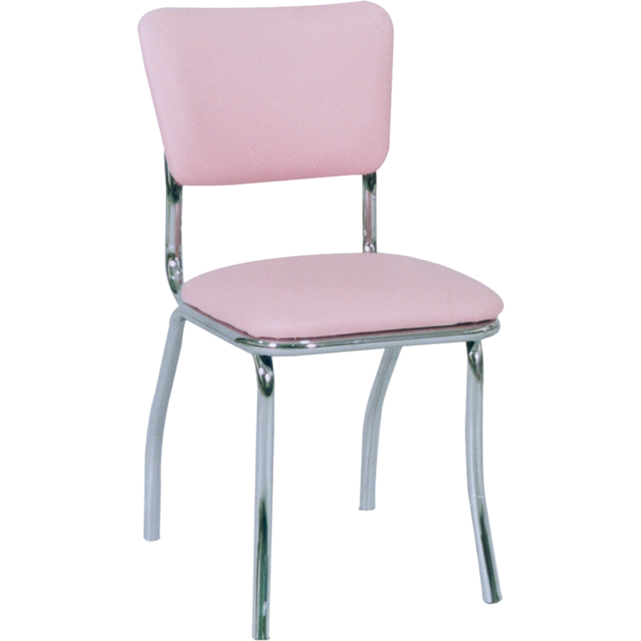 Retro style padded chrome chair retro collection chairs for 1950s chair styles