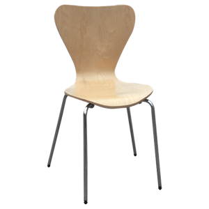 Metal Molded Contemporary Chair