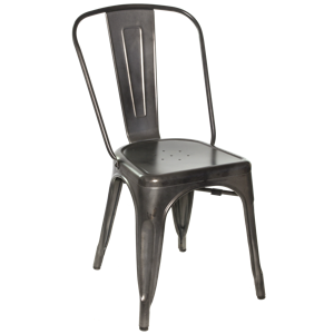 Gunmetal Galvanized Steel Chair