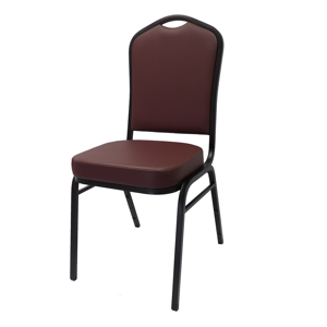 Peyton Cathedral Back Metal Stacking Banquet Chair
