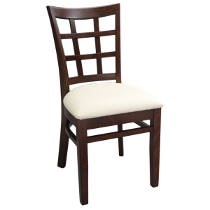 Lattice Back Wood Chair