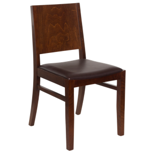 Tapered Back Wooden Chair