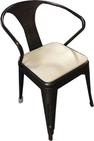 Galvanized Steel Arm Chair with Vinyl Seat