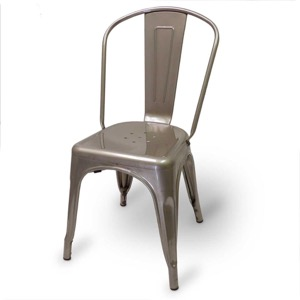 Mason Clear Coated Metal Indoor Chair