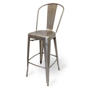 Mason Clear Coated Metal Indoor Barstool