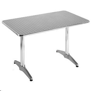"Aluminum 27.5"" x 43.5"" Rectangular Restaurant Table"