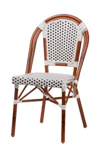 Aluminum Bamboo look Bistro Chair