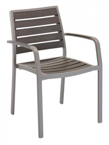 Sahara Outdoor Aluminum Arm Chair-Stackable