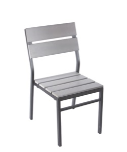 Seaside Stackable Aluminum Side Chair