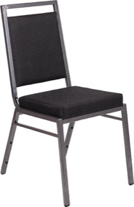 Square Back Fabric Stacking Banquet Chair