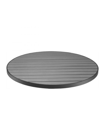 Zane Aluminum and Synthetic Teak Round Table Top