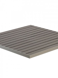Zane Aluminum and Synthetic Teak Square Table Top