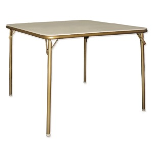 Fritz Style Bridge Folding Table with Silver Frame