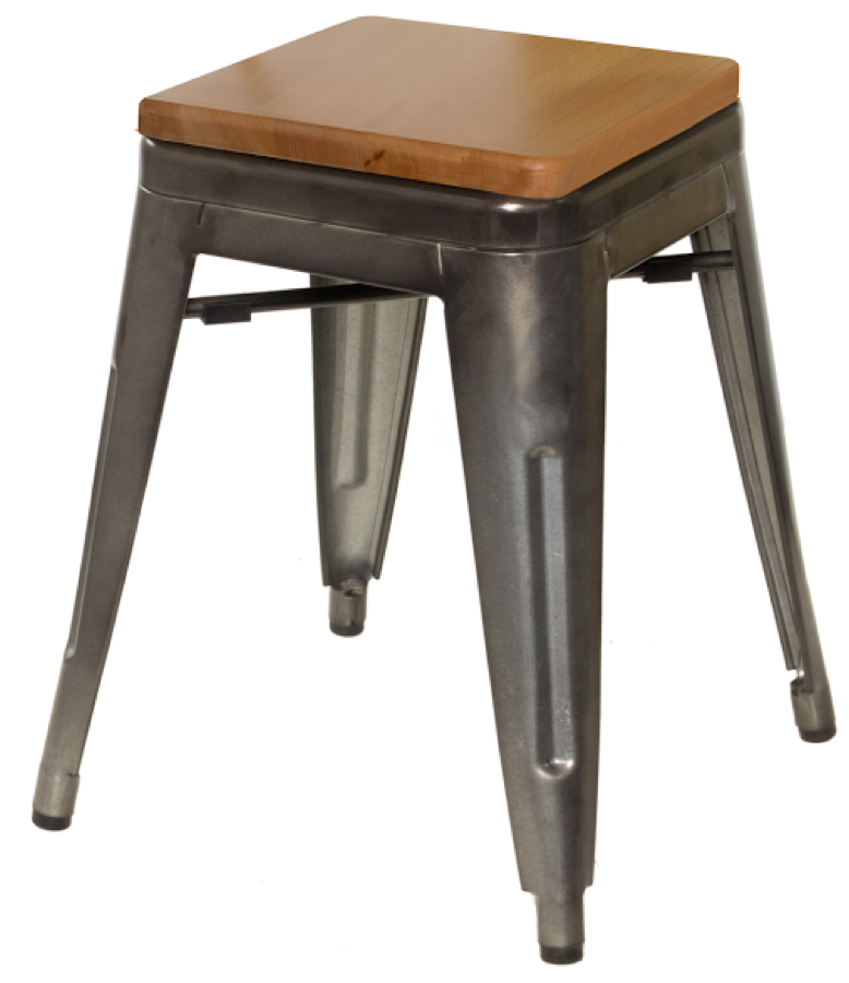 tabouret tolix replica galvanized steel backless bar stool. Black Bedroom Furniture Sets. Home Design Ideas