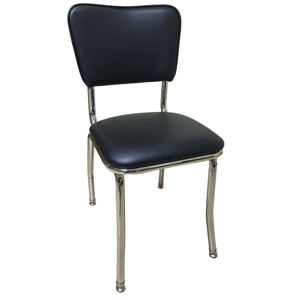 Retro Style Padded Chrome Chair