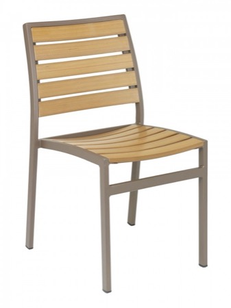 Sahara Outdoor Aluminum Side Chair-Stackable