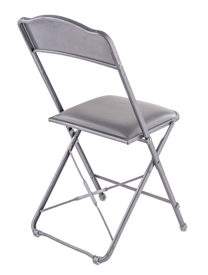 Fritz Style Folding Chair With Silver Frame 19 Quot Dining