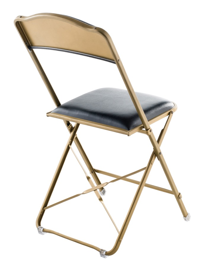 Fritz Style Folding Chair With Gold Frame Folding Chairs