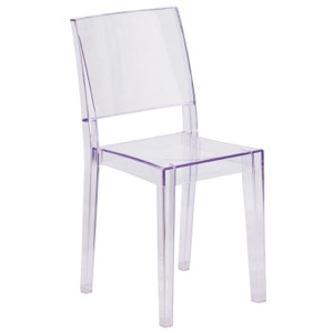 Transparent Chair with Square Back